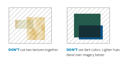 When doing overlays, don't use two textures together, and don't use dark colors.